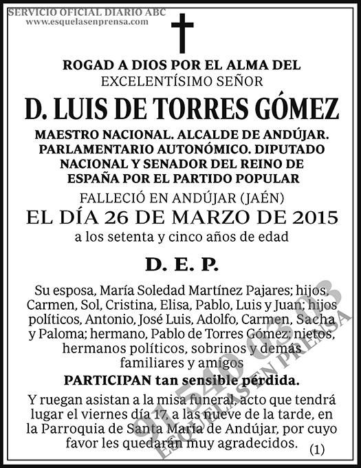 Luis de Torres Gómez